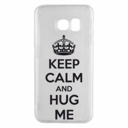 Чохол для Samsung S6 EDGE KEEP CALM and HUG ME