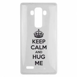 Чехол для LG G4 KEEP CALM and HUG ME - FatLine