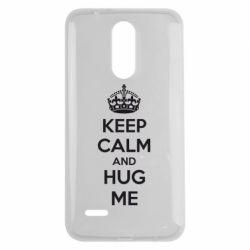 Чехол для LG K7 2017 KEEP CALM and HUG ME - FatLine