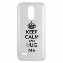 Чехол для LG K8 2017 KEEP CALM and HUG ME - FatLine
