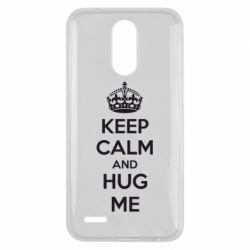 Чехол для LG K10 2017 KEEP CALM and HUG ME - FatLine