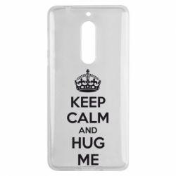 Чехол для Nokia 5 KEEP CALM and HUG ME - FatLine