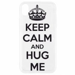 Чохол для iPhone XR KEEP CALM and HUG ME