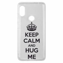 Чехол для Xiaomi Redmi Note 6 Pro KEEP CALM and HUG ME - FatLine