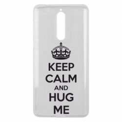 Чехол для Nokia 8 KEEP CALM and HUG ME - FatLine