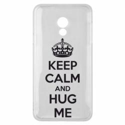 Чехол для Meizu 15 Lite KEEP CALM and HUG ME - FatLine