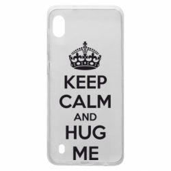Чохол для Samsung A10 KEEP CALM and HUG ME