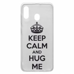 Чохол для Samsung A20 KEEP CALM and HUG ME