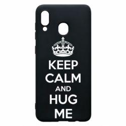 Чохол для Samsung A30 KEEP CALM and HUG ME