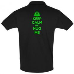 Футболка Поло KEEP CALM and HUG ME - FatLine