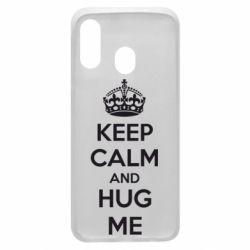 Чохол для Samsung A40 KEEP CALM and HUG ME