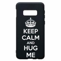 Чохол для Samsung S10e KEEP CALM and HUG ME