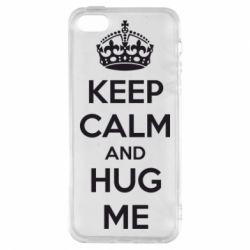 Чохол для iphone 5/5S/SE KEEP CALM and HUG ME