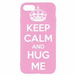 Чохол для iPhone 8 KEEP CALM and HUG ME