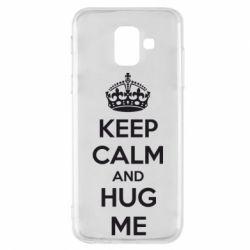 Чохол для Samsung A6 2018 KEEP CALM and HUG ME