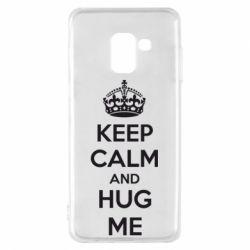 Чохол для Samsung A8 2018 KEEP CALM and HUG ME