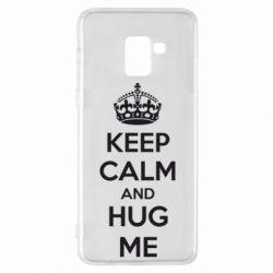 Чохол для Samsung A8+ 2018 KEEP CALM and HUG ME