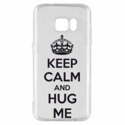 Чохол для Samsung S7 KEEP CALM and HUG ME