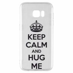 Чохол для Samsung S7 EDGE KEEP CALM and HUG ME