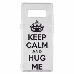 Чохол для Samsung Note 8 KEEP CALM and HUG ME