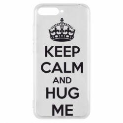 Чехол для Huawei Y6 2018 KEEP CALM and HUG ME - FatLine
