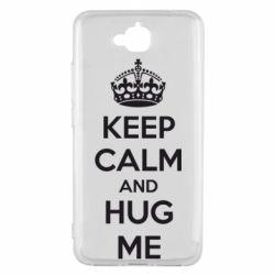 Чехол для Huawei Y6 Pro KEEP CALM and HUG ME - FatLine