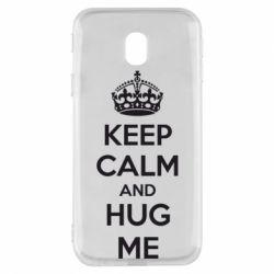 Чохол для Samsung J3 2017 KEEP CALM and HUG ME