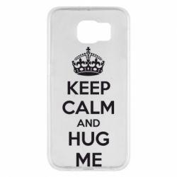 Чохол для Samsung S6 KEEP CALM and HUG ME