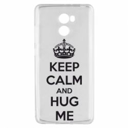 Чехол для Xiaomi Redmi 4 KEEP CALM and HUG ME - FatLine