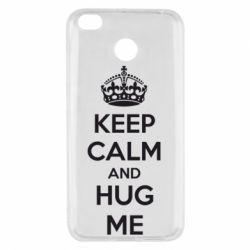 Чехол для Xiaomi Redmi 4x KEEP CALM and HUG ME - FatLine