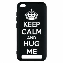 Чехол для Xiaomi Redmi 5a KEEP CALM and HUG ME - FatLine