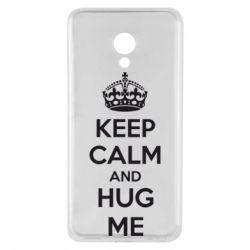 Чехол для Meizu M5 KEEP CALM and HUG ME - FatLine
