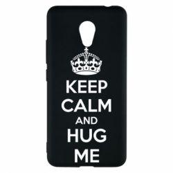 Чехол для Meizu M5c KEEP CALM and HUG ME - FatLine