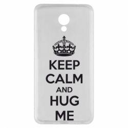 Чехол для Meizu M5 Note KEEP CALM and HUG ME - FatLine