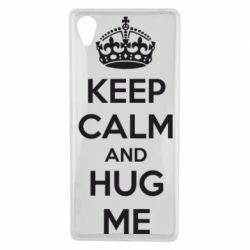 Чехол для Sony Xperia X KEEP CALM and HUG ME - FatLine