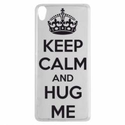 Чехол для Sony Xperia XA KEEP CALM and HUG ME - FatLine