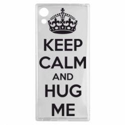 Чехол для Sony Xperia XA1 KEEP CALM and HUG ME - FatLine