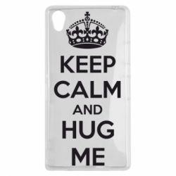 Чехол для Sony Xperia Z1 KEEP CALM and HUG ME - FatLine