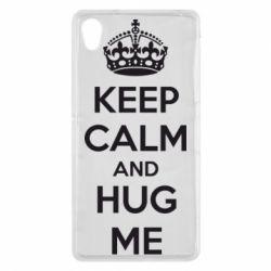 Чехол для Sony Xperia Z2 KEEP CALM and HUG ME - FatLine