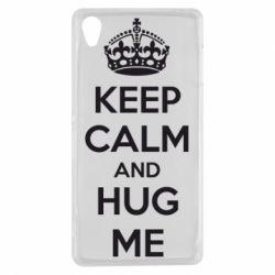 Чехол для Sony Xperia Z3 KEEP CALM and HUG ME - FatLine
