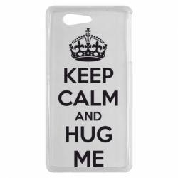 Чехол для Sony Xperia Z3 mini KEEP CALM and HUG ME - FatLine