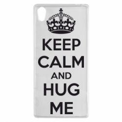 Чехол для Sony Xperia Z5 KEEP CALM and HUG ME - FatLine