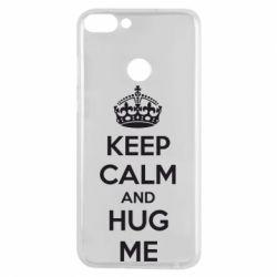 Чехол для Huawei P Smart KEEP CALM and HUG ME - FatLine