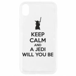 Чехол для iPhone XR KEEP CALM and Jedi will you be - FatLine