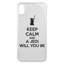 Чехол для iPhone Xs Max KEEP CALM and Jedi will you be - FatLine
