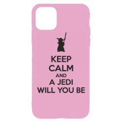 Чехол для iPhone 11 Pro Max KEEP CALM and Jedi will you be