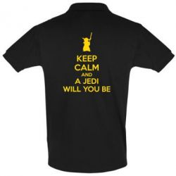 Футболка Поло KEEP CALM and Jedi will you be