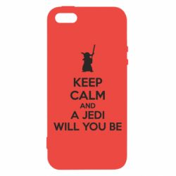 Чехол для iPhone5/5S/SE KEEP CALM and Jedi will you be - FatLine