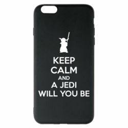 Чехол для iPhone 6 Plus/6S Plus KEEP CALM and Jedi will you be - FatLine