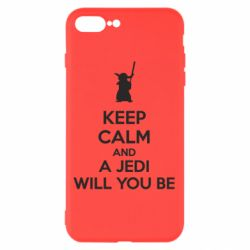 Чехол для iPhone 7 Plus KEEP CALM and Jedi will you be - FatLine
